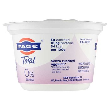 Fage Total 0% Grassi 170 G